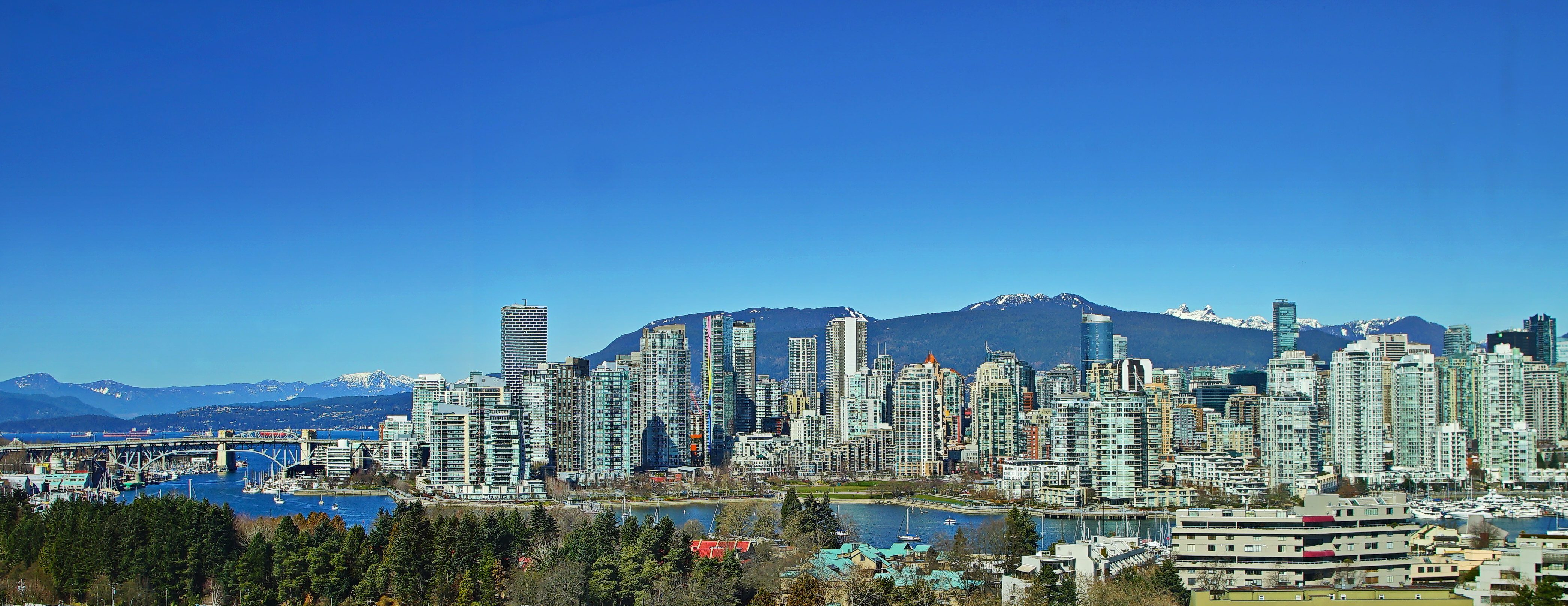 Landscape view of Vancouver city skyline